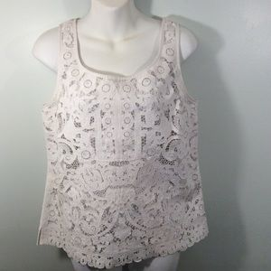 Women's Blouse Worth Lace Small Linen